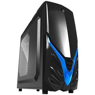 Raidmax Viper II mit Sichtfenster Midi Tower ohne Netzteil schwarz/blau