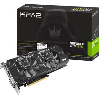 4096MB KFA2 GeForce GTX 970 EX OC Sniper Edition Aktiv PCIe 3.0 x16 (Retail)