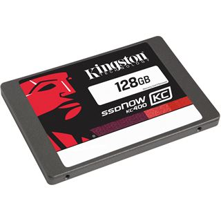 "128GB Kingston SSDNow KC400 2.5"" (6.4cm) SATA 6Gb/s MLC (SKC400S37/128G)"