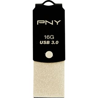 16 GB PNY Type-C to Type A UCD10 schwarz USB 3.0