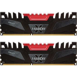 8GB PNY Anarchy X rot DDR3-2400 DIMM CL11 Dual Kit