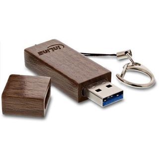 128 GB InLine woodline Walnuss braun USB 3.0