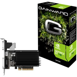 1GB Gainward GeForce GT 710 Silent FX Passiv PCIe 2.0 x 8 (Retail)