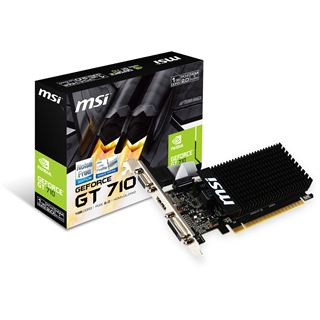 1GB MSI GeForce GT 710 LP Passiv PCIe 2.0 x16 (Retail)