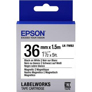 Epson Tape LK7WB2 schwarz/weiß