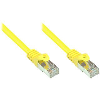 (€0,36*/1m) 25.00m Good Connections Cat. 5e Patchkabel SF/UTP RJ45 Stecker auf RJ45 Stecker Gelb PVC/Rastnasenschutz