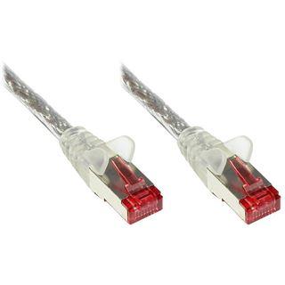 (€0,50*/1m) 40.00m Good Connections Cat. 6 Patchkabel S/FTP RJ45 Stecker auf RJ45 Stecker Transparent PVC/Rastnasenschutz