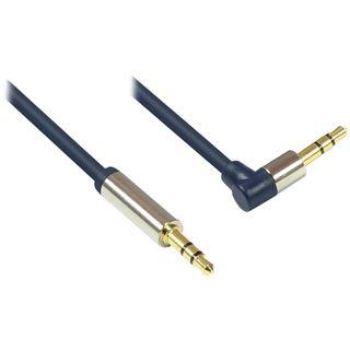 (€1,63*/1m) 3.00m Good Connections Audio Anschlusskabel gewinkelt rechts 3.5mm Klinken-Stecker auf 3.5mm Klinken-Stecker Blau vergoldet