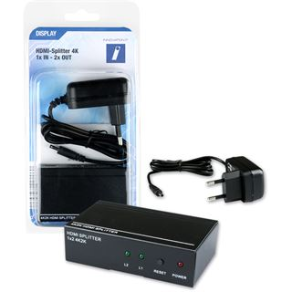 Innovation IT HDMI Splitter 1x IN - 2x OUT 4K inkl. Fernbedienung I.IT