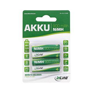 InLine NiMH-Akku Micro AAA 900mAh 4er Blister