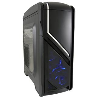 LC-Power Gaming 979B Silver Strike mit Sichtfenster Midi Tower ohne Netzteil schwarz
