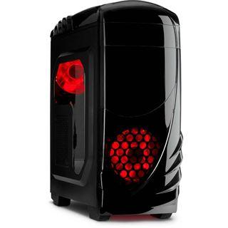 Inter-Tech K-2 GTS Mit Sichtfenster Midi Tower ohne Netzteil schwarz