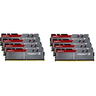 64GB G.Skill Trident Z silber/rot DDR4-3200 DIMM CL14 Octa Kit