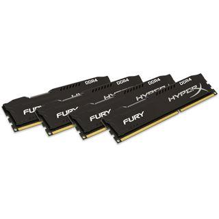 32GB HyperX FURY Rev.2 schwarz DDR4-2400 DIMM CL15 Quad Kit