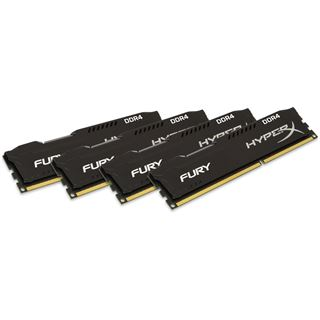32GB HyperX FURY Rev.2 schwarz DDR4-2133 DIMM CL14 Quad Kit