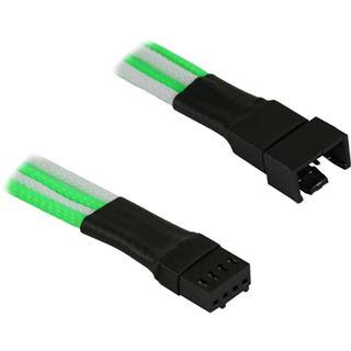 Nanoxia 4-Pin PWM Verlängerung - 30 cm, grün/weiß