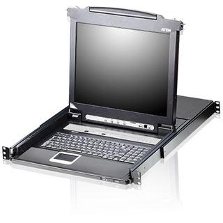"""ATEN Technology KVMP-Switch, CL5708M-ATA, 8-fach mit 43,18cm-(17"""")-LCD-Konsole und LED-beleuchteter Tastatur, USB, PS/2, für 19""""-Netzwerkschr"""