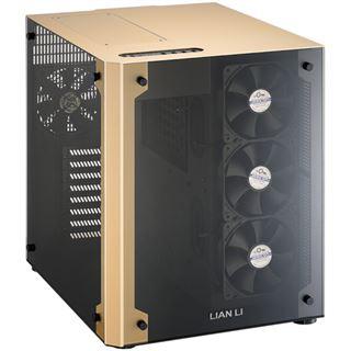 Lian Li PC-O8 mit Sichtfenster Wuerfel ohne Netzteil gold