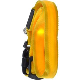 Ultron LED save-E LED Hundehalsband gelb