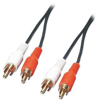 (€1,09*/1m) 10.00m Lindy Audio Anschlusskabel 2xCinch Stecker auf 2xCinch Stecker Weiß/Rot