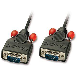 (€9,90*/1m) 1.00m Lindy VGA Anschlusskabel VGA 15pol Stecker auf VGA 15pol Stecker Schwarz doppelt geschirmt