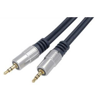(€5,93*/1m) 1.50m ShiverPeaks Audio Anschlusskabel 3.5mm Klinke Stecker Stereo auf 3.5mm Klinke Stecker Stereo Blau verchromt/vergoldet