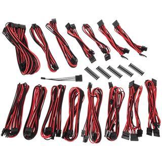 BitFenix Alchemy 2.0 PSU Cable Kit, EVG-Series - schwarz/rot