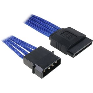 BitFenix Molex zu SATA Adapter 45 cm - sleeved blau/schwarz