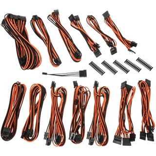 BitFenix Alchemy 2.0 PSU Cable Kit, SSC-Series - schwarz/orange