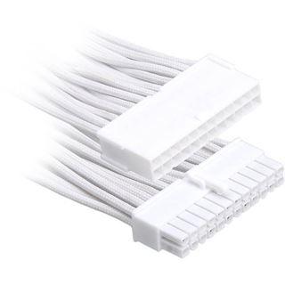 BitFenix 24-Pin ATX Verlängerung 30cm - sleeved weiß/weiß