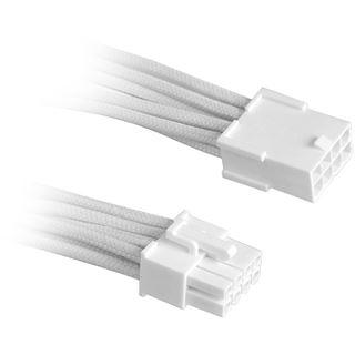 BitFenix 8-Pin PCIe Verlängerung 45cm - sleeved weiß/weiß