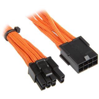 BitFenix 6+2-Pin PCIe Verlängerung 45cm - sleeved orange/schwarz