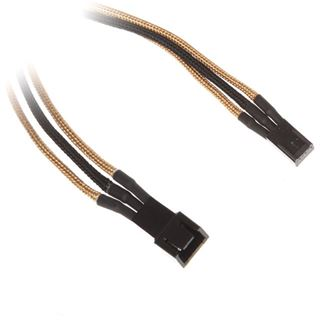 BitFenix 3-Pin Verlängerung 60cm - sleeved gold/schwarz