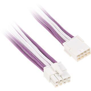 BitFenix 8-Pin PCIe Verlängerung 45cm - sleeved violett/weiß/weiß
