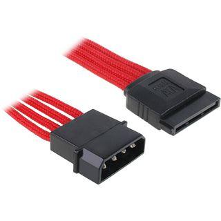 BitFenix Molex zu SATA Adapter 45 cm - sleeved rot/schwarz
