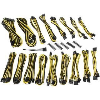 BitFenix Alchemy 2.0 PSU Cable Kit, CSR-Series - schwarz/gelb