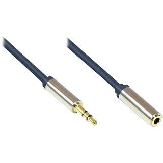 (€3,27*/1m) 1.50m Good Connections Audio Anschlusskabel 3.5mm Klinke Stecker 3polig auf 3.5mm Klinke Buchse Stereo Blau vergoldete Stecker