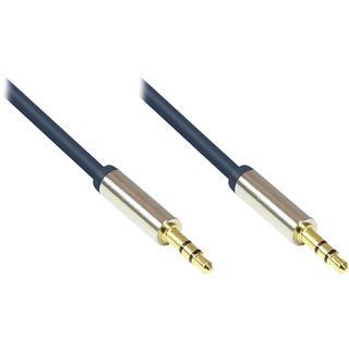 (€3,27*/1m) 1.50m Good Connections Audio Anschlusskabel 3.5mm Klinke Stecker 3polig auf 3.5mm Klinke Stecker 3polig Blau vergoldete Stecker