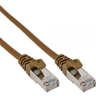 (€15,60*/1m) 0.25m InLine Cat. 5e Patchkabel SF/UTP RJ45 Stecker auf RJ45 Stecker Orange
