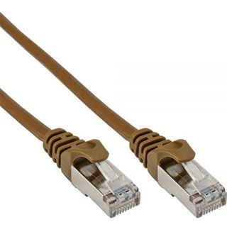 (€0,98*/1m) 5.00m InLine Cat. 5e Patchkabel SF/UTP RJ45 Stecker auf RJ45 Stecker Braun