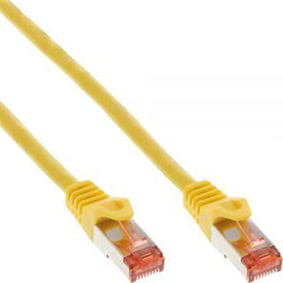 (€15,60*/1m) 0.25m InLine Cat. 6 Patchkabel S/FTP PiMF RJ45 Stecker auf RJ45 Stecker Gelb halogenfrei