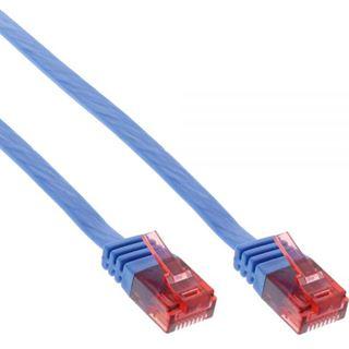 (€2,60*/1m) 1.50m InLine Cat. 6 Patchkabel flach U/UTP RJ45 Stecker auf RJ45 Stecker Blau