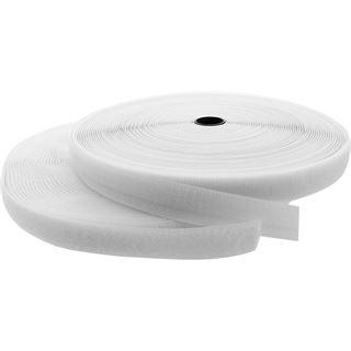 InLine Kabelbinder, Klettverschlussband 2-teilig, 25mm, weiß, 25m