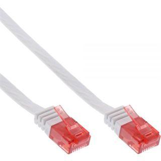 (€7,80*/1m) 0.50m InLine Cat. 6 Patchkabel flach U/UTP RJ45 Stecker auf RJ45 Stecker Weiß