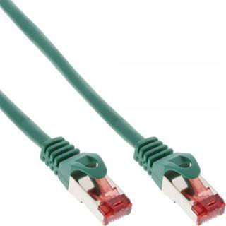 (€0,79*/1m) 15.00m InLine Cat. 6 Patchkabel S/FTP PiMF RJ45 Stecker auf RJ45 Stecker Grün halogenfrei