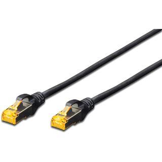 (€2,30*/1m) 3.00m Digitus Cat. 6a Patchkabel S/FTP RJ45 Stecker auf RJ45 Stecker Schwarz