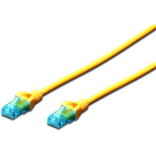 (€0,98*/1m) 5.00m Digitus Cat. 5e Patchkabel U/UTP RJ45 Stecker auf RJ45 Stecker Gelb