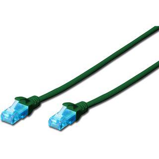 (€1,63*/1m) 3.00m Digitus Cat. 5e Patchkabel U/UTP RJ45 Stecker auf RJ45 Stecker Grün