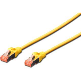 (€9,80*/1m) 0.50m Digitus Cat. 6 Patchkabel S/FTP RJ45 Stecker auf RJ45 Stecker Gelb