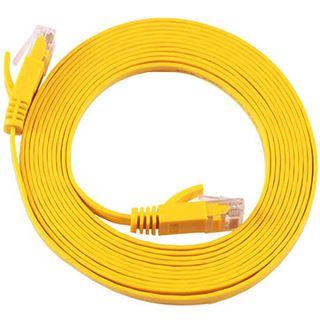 (€1,78*/1m) 5.00m Equip Cat. 6a Patchkabel flach STP RJ45 Stecker auf RJ45 Stecker Gelb